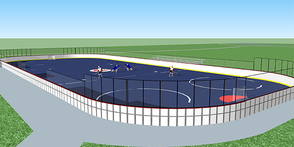 Thomas James Memorial Rink Perspective Rendering