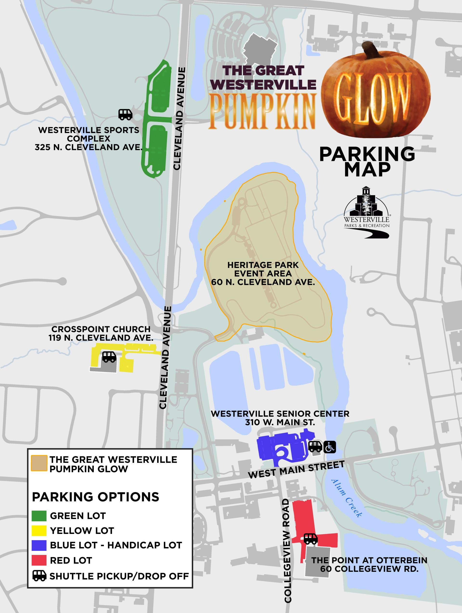 Pumpkin Glow parking map