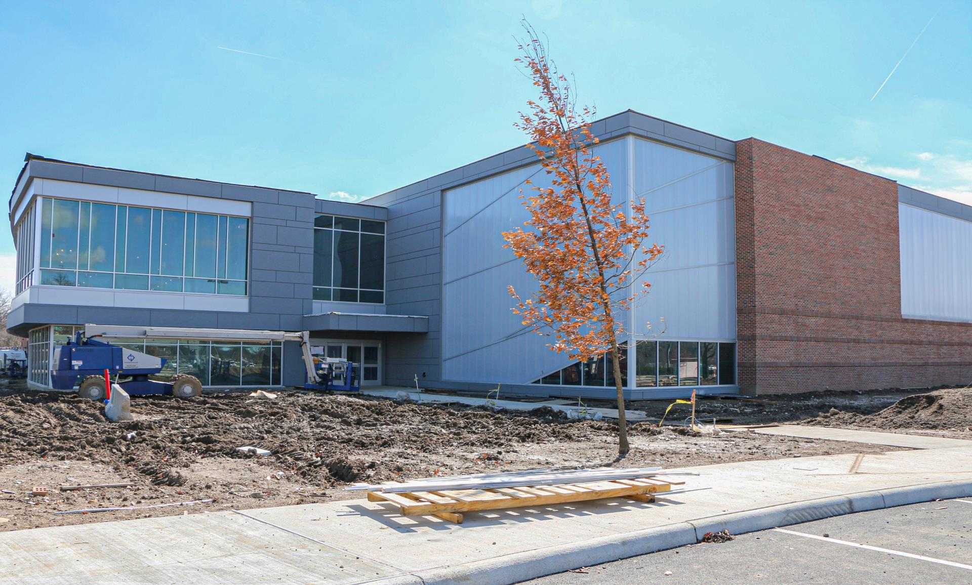 Exterior of Expanded Fitness Area and Gymnasium